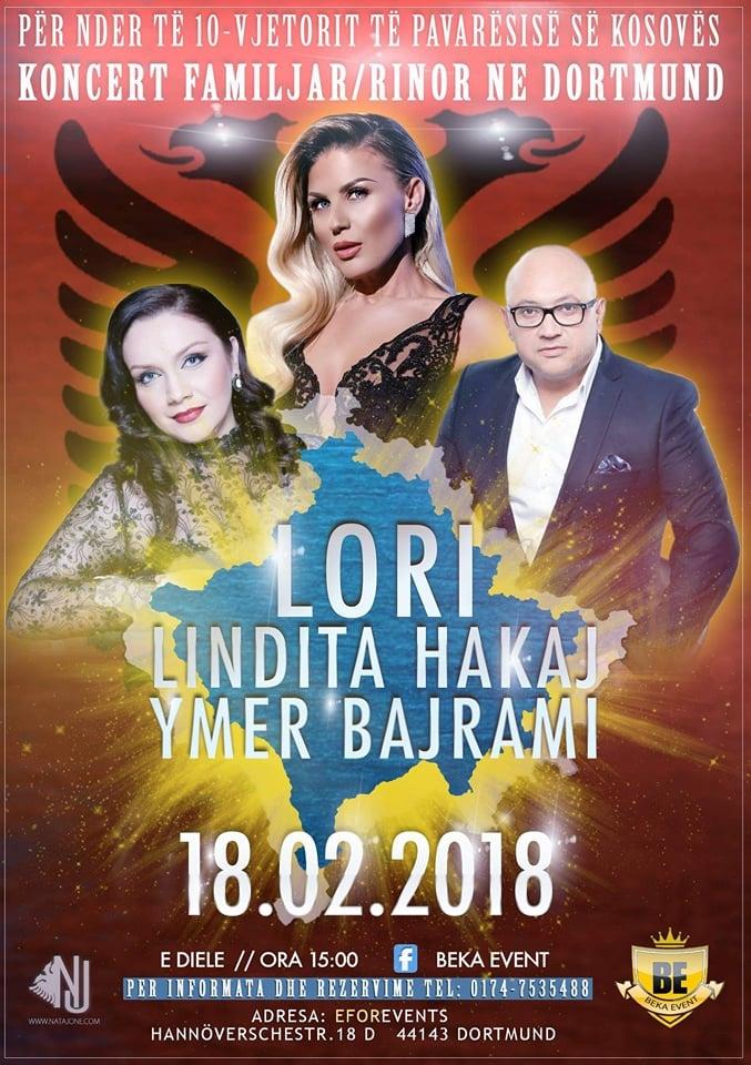 18.02.2018 – Koncert Familjar/Rinor në Dortmund – Për nder të 10-Vjetorit të Pavarsisë së Kosovës
