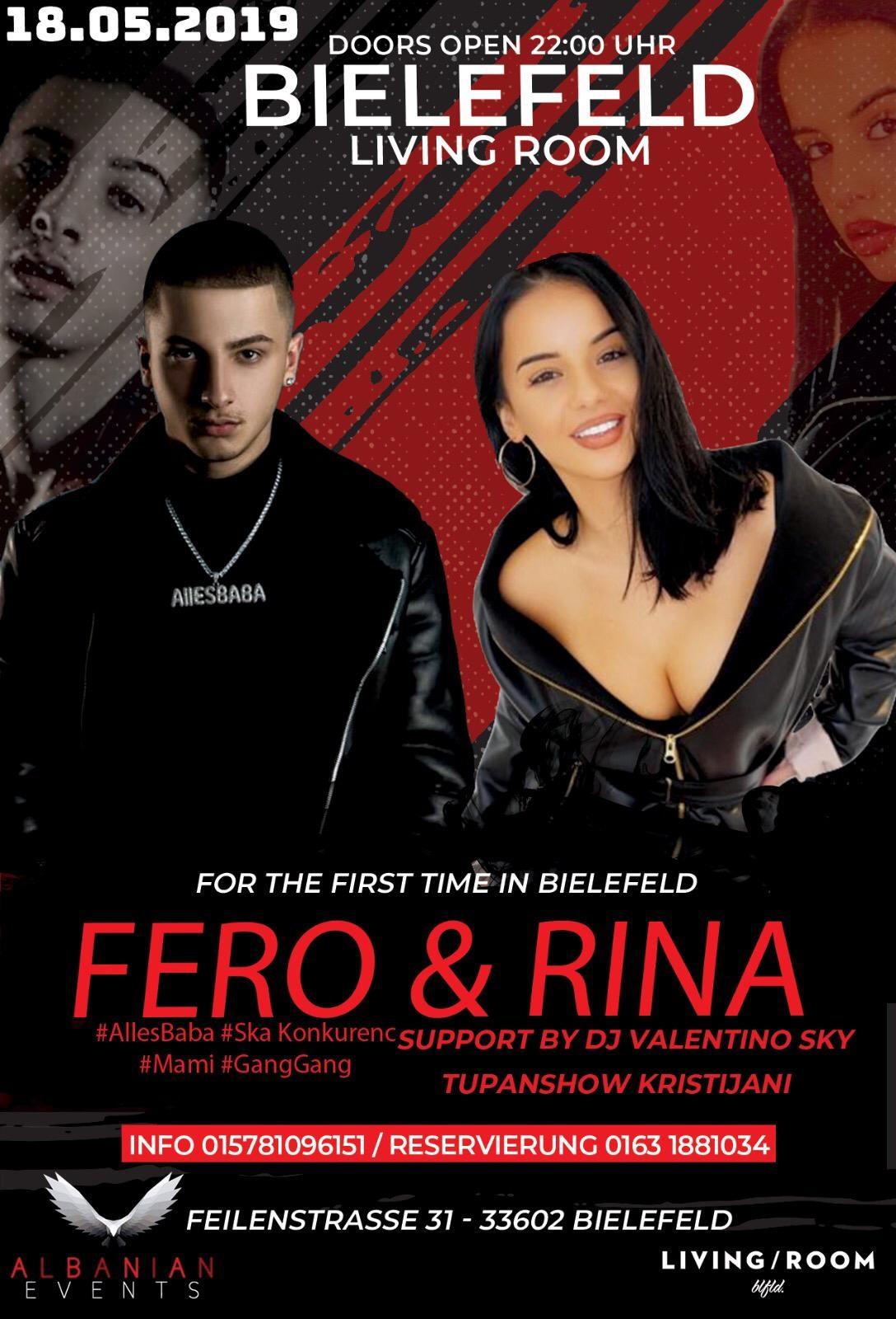 18.05.2019 Në Bielefeld – LIVING ROOM – FERO & RINA