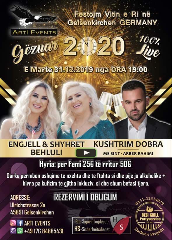 31.12.2019 Gelsenkirchen - Gëzur 2020 me ARTI EVENTS - Engjel & Shyhrete Behluli dhe Kushtrim Dobra 1