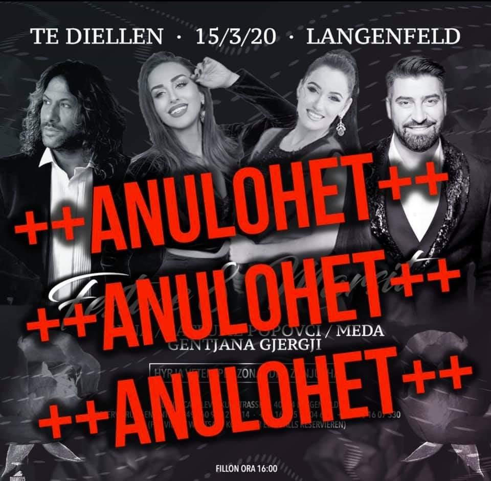 Spektakel me 15 Mars 2020 ne Langenfeld vetem per zonja dhe zonjusha 40